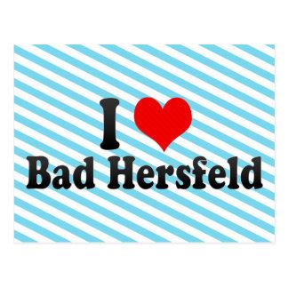 I Liebe schlechtes Hersfeld, Deutschland Postkarte