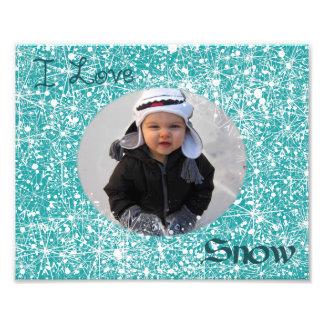 I Liebe-Schnee-Foto-Matte Photodrucke