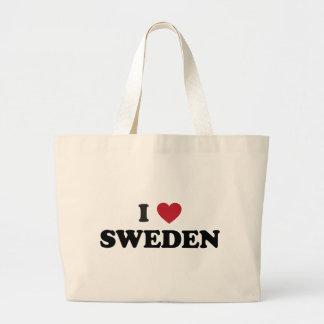 I Liebe Schweden Jumbo Stoffbeutel