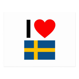 I Liebe Schweden Postkarte
