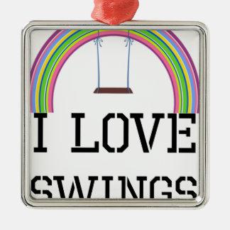 I Liebe-Schwingen Silbernes Ornament