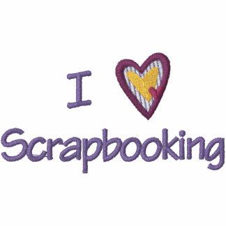 I Liebe Scrapbooking Kapuzenpulli