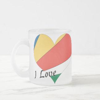 I Liebe Seychellen Mattglastasse