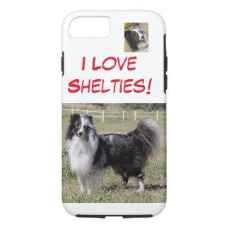 I Liebe Shelties - Biblau, spaltete iPhone 8/7 Hülle