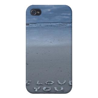 I Liebe Sie auf dem Strand Schutzhülle Fürs iPhone 4