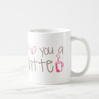 I Liebe Sie ein Latte Kaffeetasse