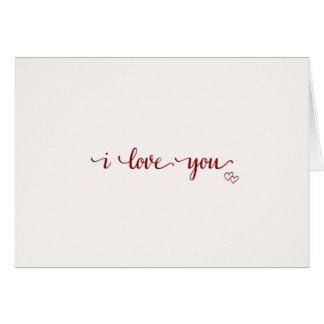 I Liebe Sie, einfach u. einfach Karte