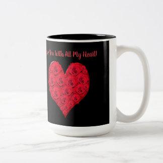 I Liebe Sie Herz-Tasse Zweifarbige Tasse
