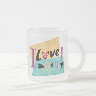 I Liebe Sie Hochzeits-Tasse Matte Glastasse