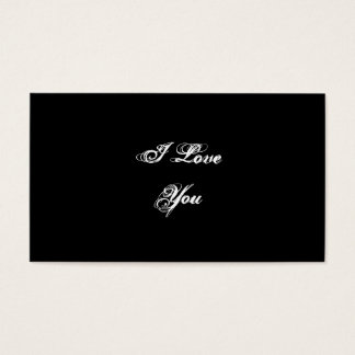 I Liebe Sie. In einem Skript-Schriftart. Visitenkarten