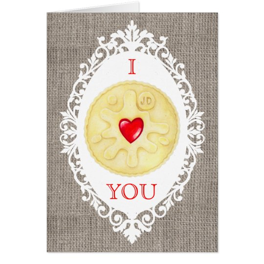 I Liebe Sie Jammy Dodger-Keks-Gruß-Karte Grußkarte