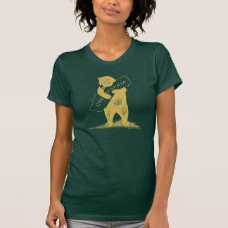 I Liebe Sie Kalifornien--Grün und Gold T-Shirt
