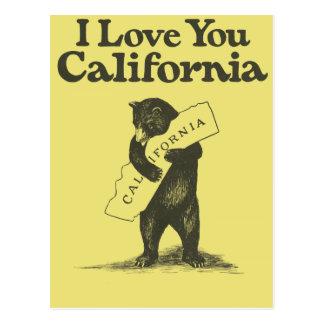 I Liebe Sie Kalifornien Postkarte