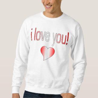 I Liebe Sie! Kanada-Flaggen-Farben Sweatshirt