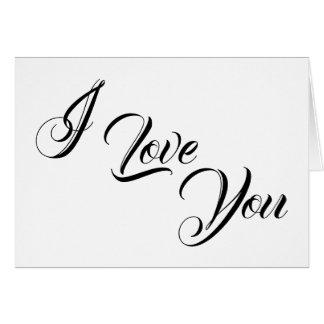 I Liebe Sie, Karte