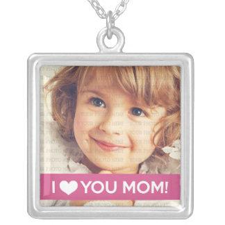 I Liebe Sie Mamma - kundenspezifisches Foto Versilberte Kette
