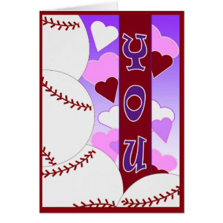 I Liebe Sie mehr als Baseball - Valentine Grußkarte