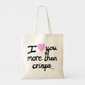 I Liebe Sie mehr als Chip-Tasche Tragetasche