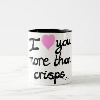 I Liebe Sie mehr als Chip-Tasse Zweifarbige Tasse