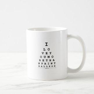 I Liebe Sie mehr als Paintball Kaffeetasse
