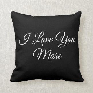 I Liebe Sie mehr Kissen