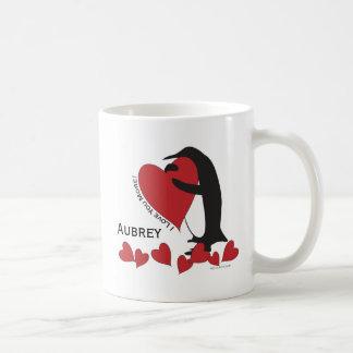 I Liebe Sie mehr! - Penguin-rote Herzen Tasse
