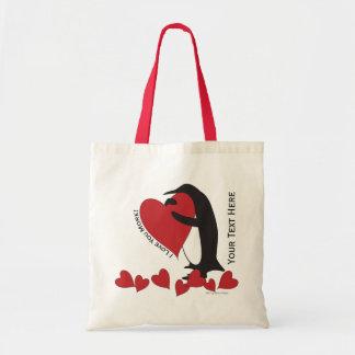I Liebe Sie mehr! - Penguin-rote Herzen Tragetasche