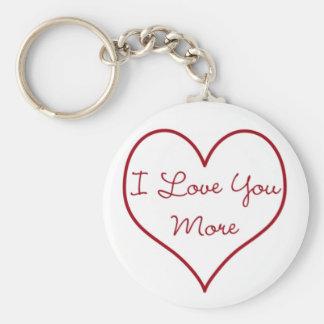 I Liebe Sie mehr Schlüsselanhänger