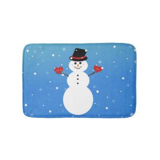 I Liebe Sie mehr Snowman Badematte