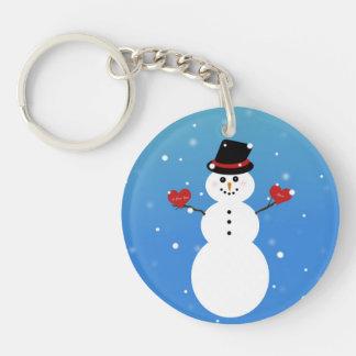 I Liebe Sie mehr Snowman Schlüsselanhänger