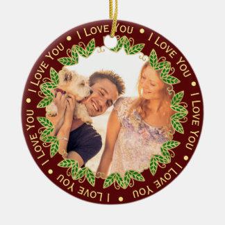 I Liebe Sie personalisiertes Foto u. Keramik Ornament
