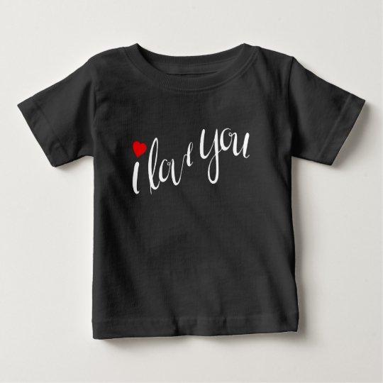 I Liebe Sie (Schwarzes) Baby T-shirt
