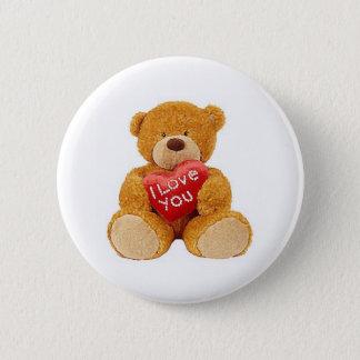 I Liebe Sie Teddybär Runder Button 5,1 Cm