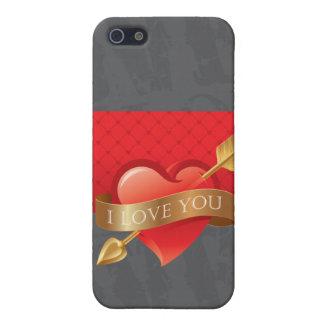 I Liebe Sie Valentine-HerzenGrunge iPhone 5 Case