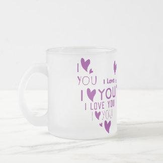I Liebe Sie - zeigen Sie Ihre Liebe Mattglastasse