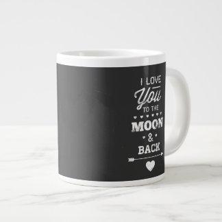 I Liebe Sie zum Mond und zur Rückseite Jumbo-Mug