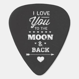 I Liebe Sie zum Mond und zur Rückseite Plektrum