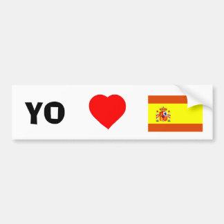 I Liebe Spanien Autoaufkleber