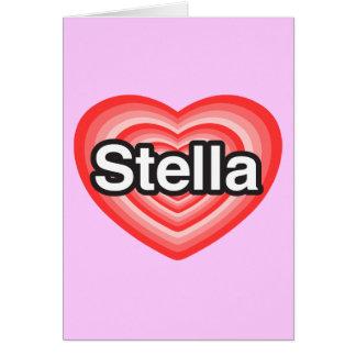 I Liebe Stella. Liebe I Sie Stella. Herz Karte