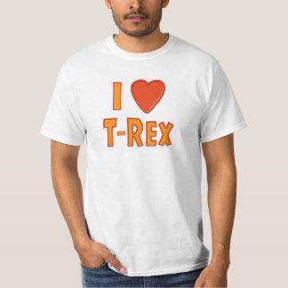 I Liebe T-Rex Tyrannosaurus Rex Dinosaurier-Liebha Shirt
