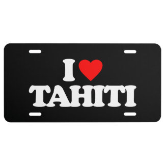 I LIEBE TAHITI US NUMMERNSCHILD