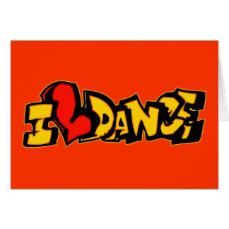 I Liebe-Tanz Karte