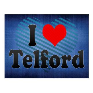 I Liebe Telford, Vereinigtes Königreich Postkarte