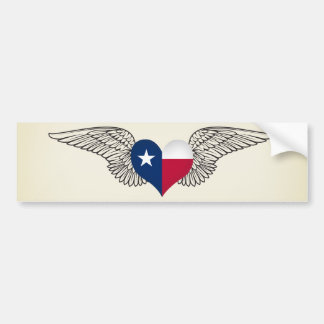 I Liebe Texas - Flügel Autoaufkleber