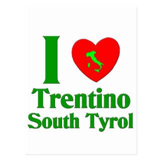 I Liebe Trentino Südtirol Postkarte