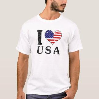 I LIEBE USA - Amerika Flagge T-Shirt