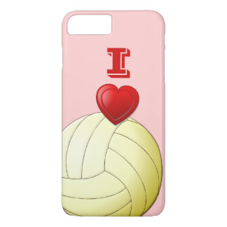 I LIEBE-VOLLEYBALL iPhone 7 Plusfall iPhone 7 Plus Hülle