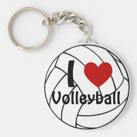 I Liebe-Volleyball Standard Runder Schlüsselanhänger