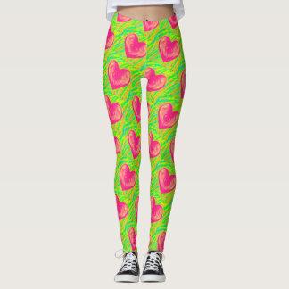 I Liebe-Wassermelone-Gamaschen Leggings