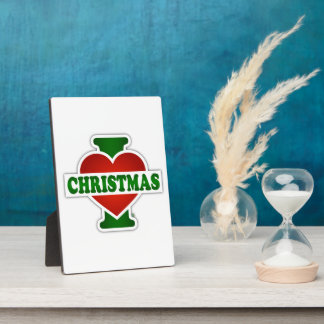 I Liebe-Weihnachten Fotoplatte